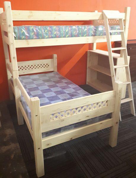 Lattice L-Shape Bunk Bed