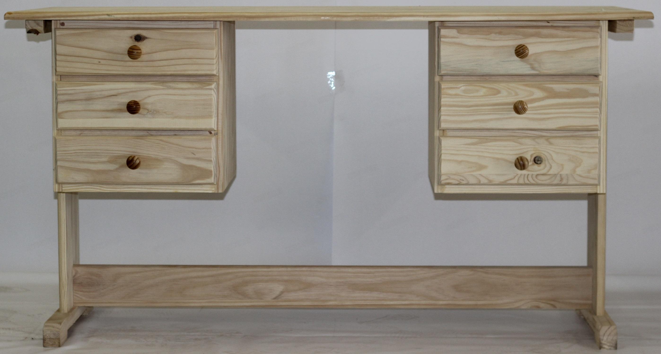 6 Drawer Desk 1500×600