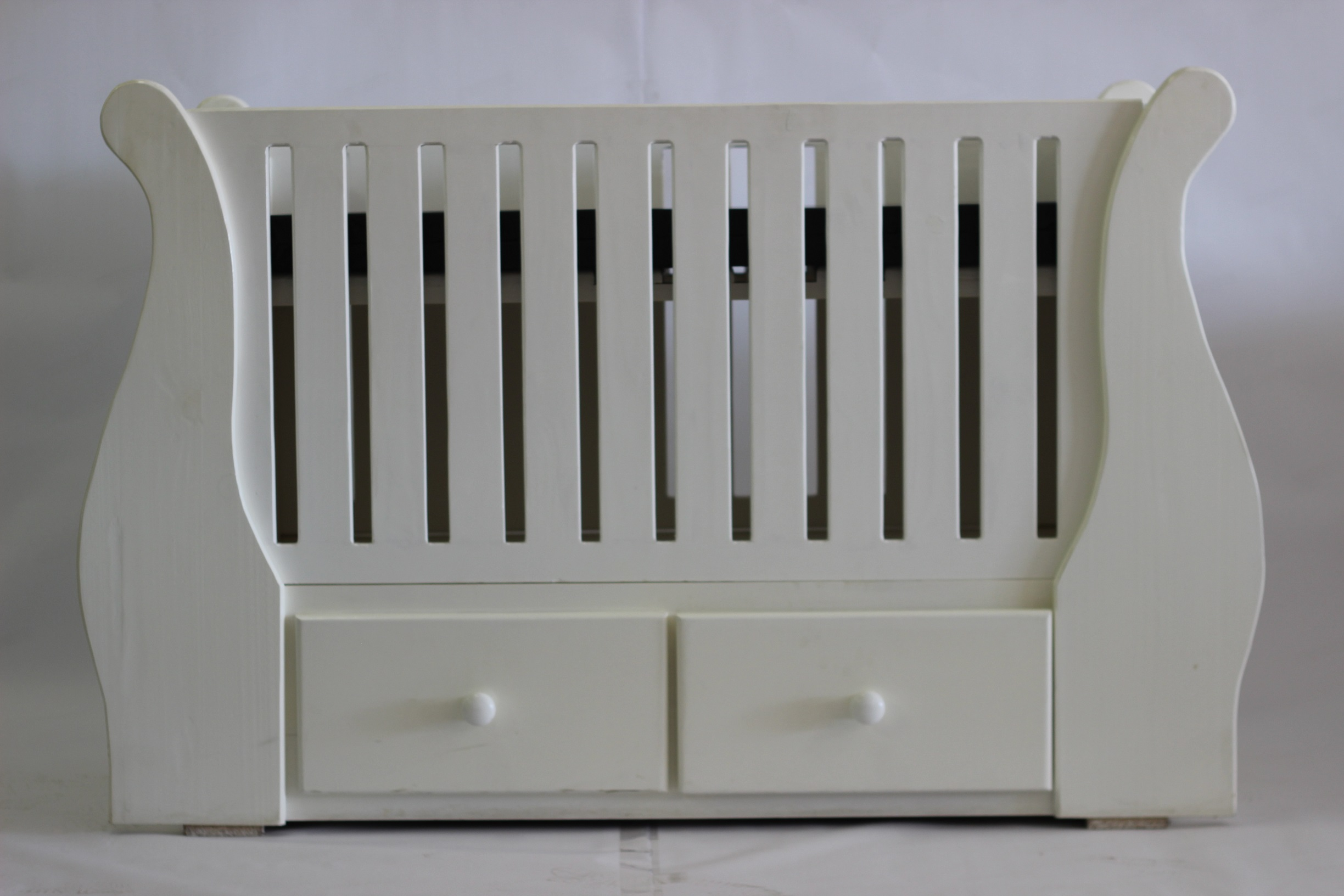 Baby Sleigh Cot with Drawers