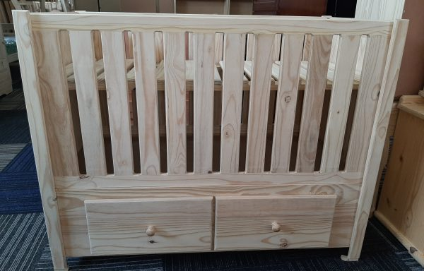 Baby Straight Cot with Drawers
