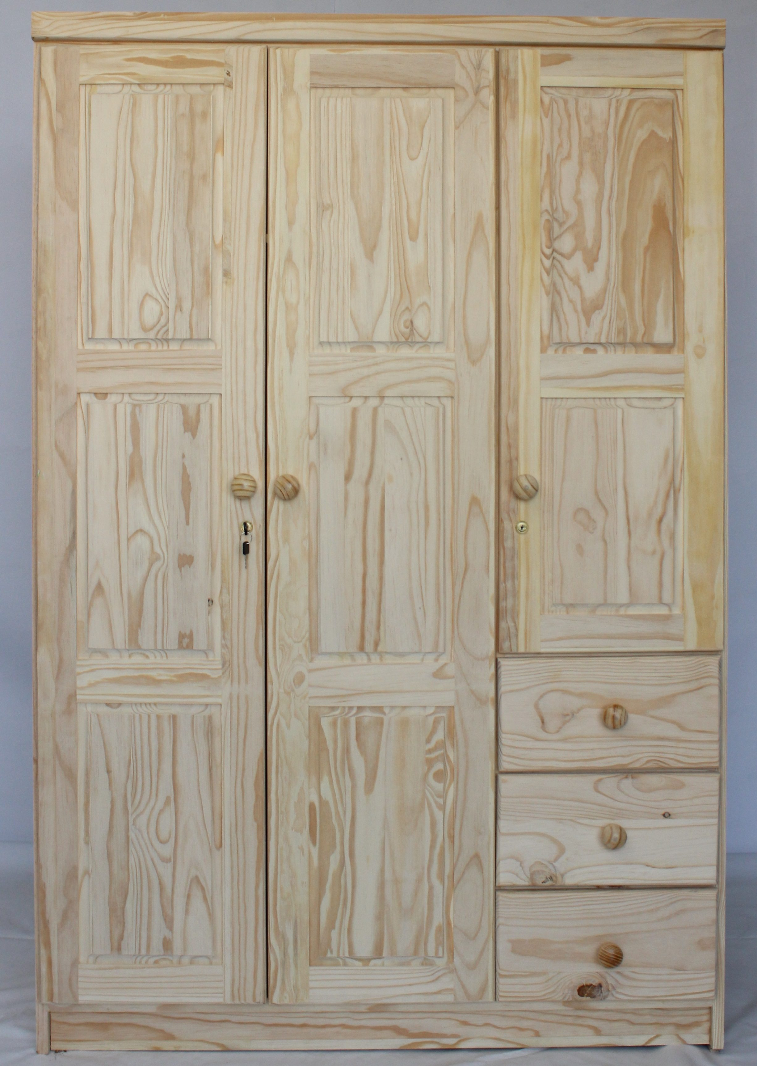 3 Door Robe with Drawers
