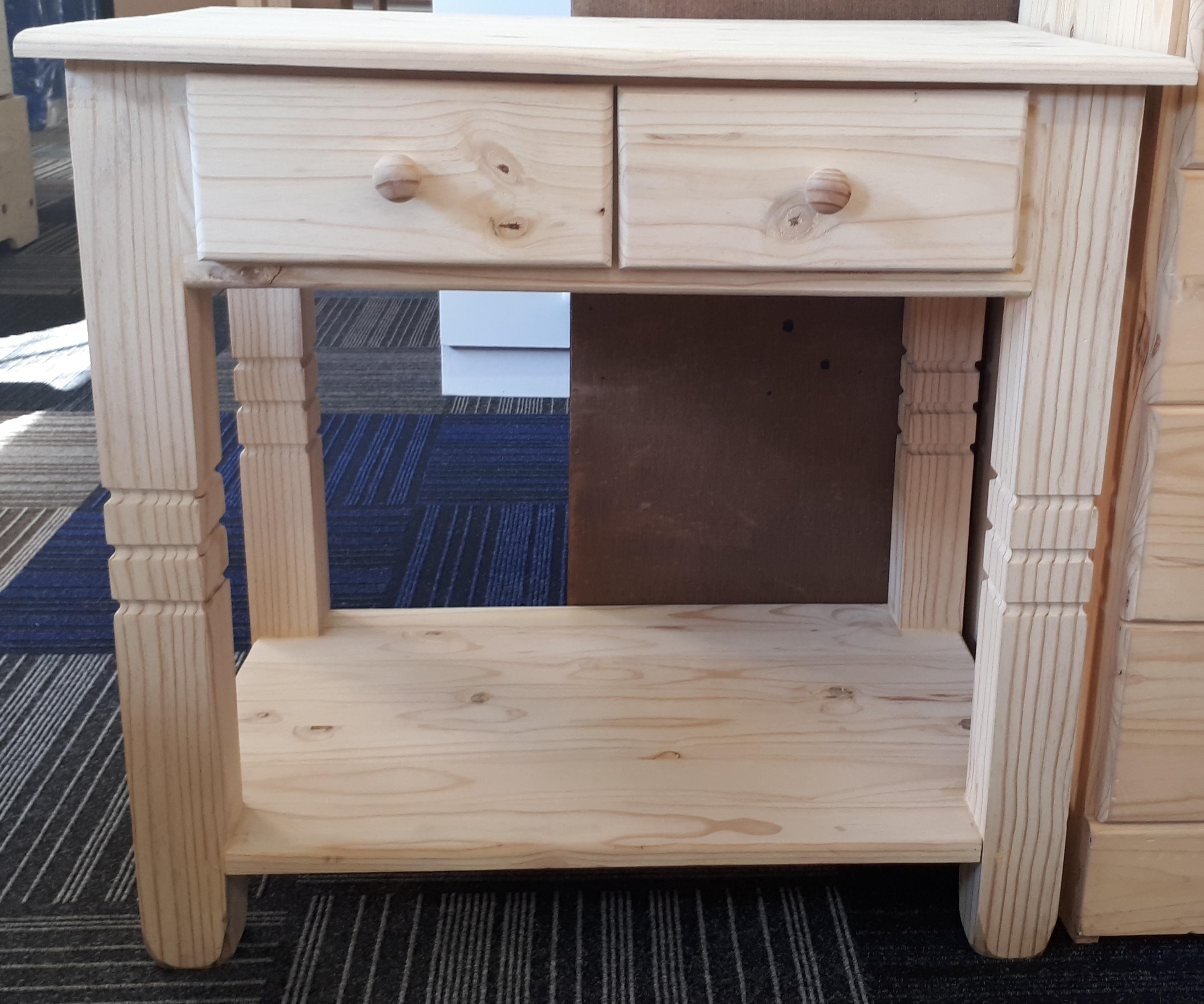 2 Drawer with Bottom Shelf