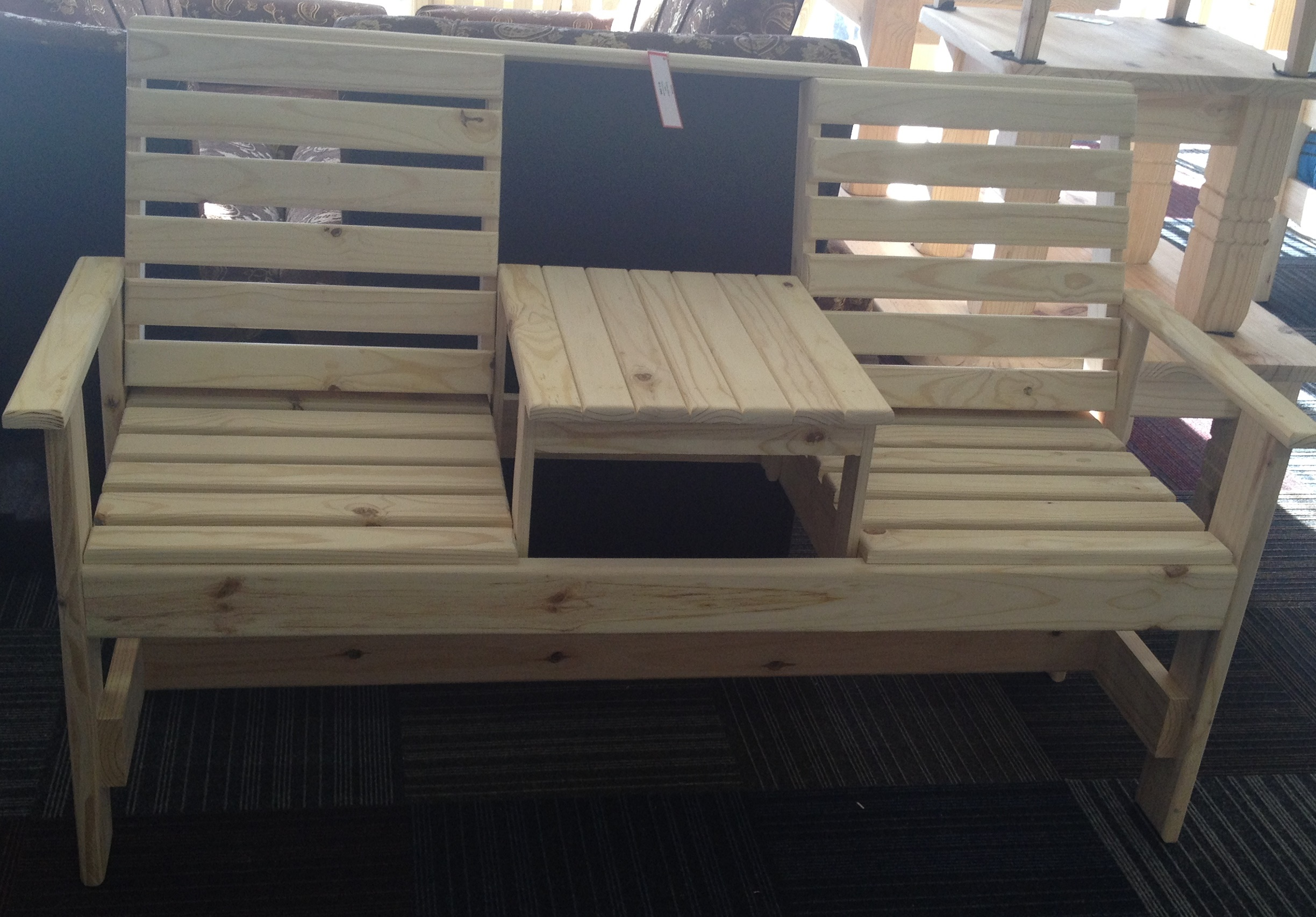 Beach Bench with Table