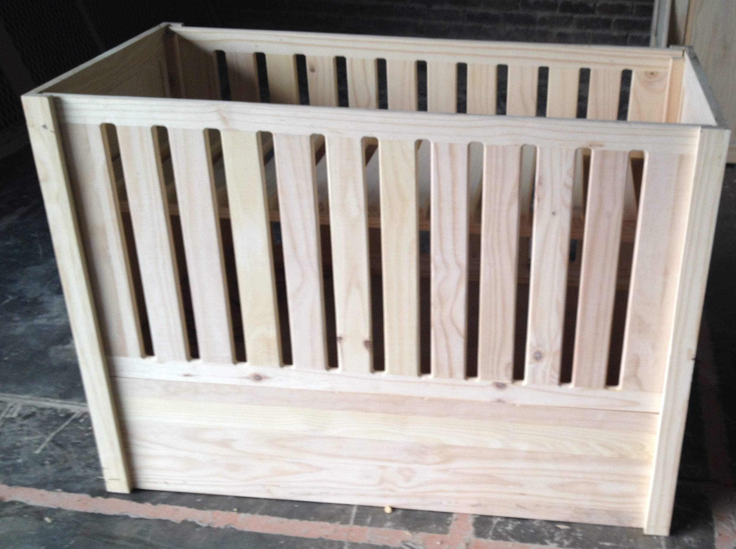 Baby Straight Cot without drawers