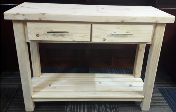 1200 Butchersblock with Drawers and 50mm Top