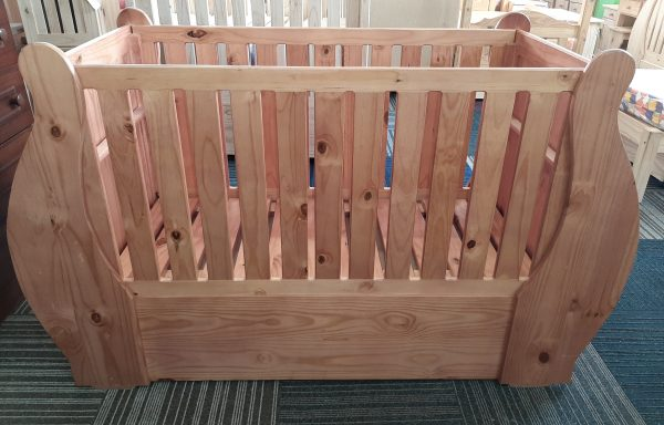 Baby Sleigh Cot without Drawers